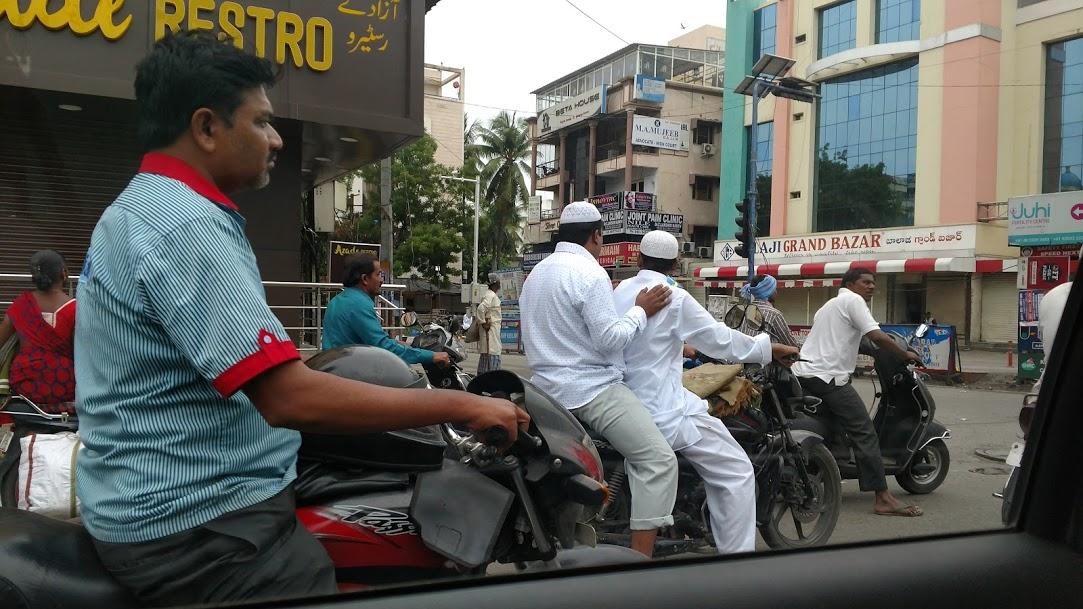 Muslims on motorbikes