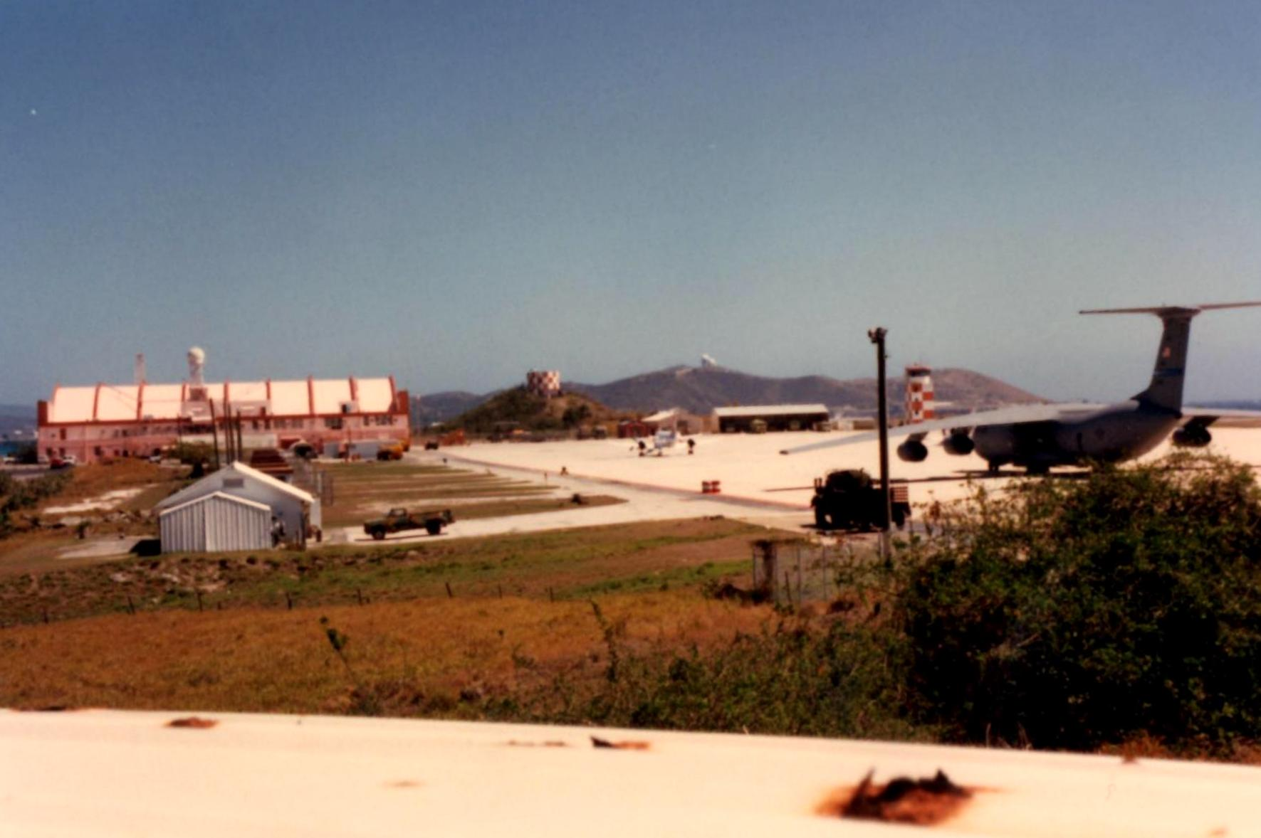 This is the airstrip at U.S. Naval Station Guantanamo Bay, Cuba taken by the author in 1997.