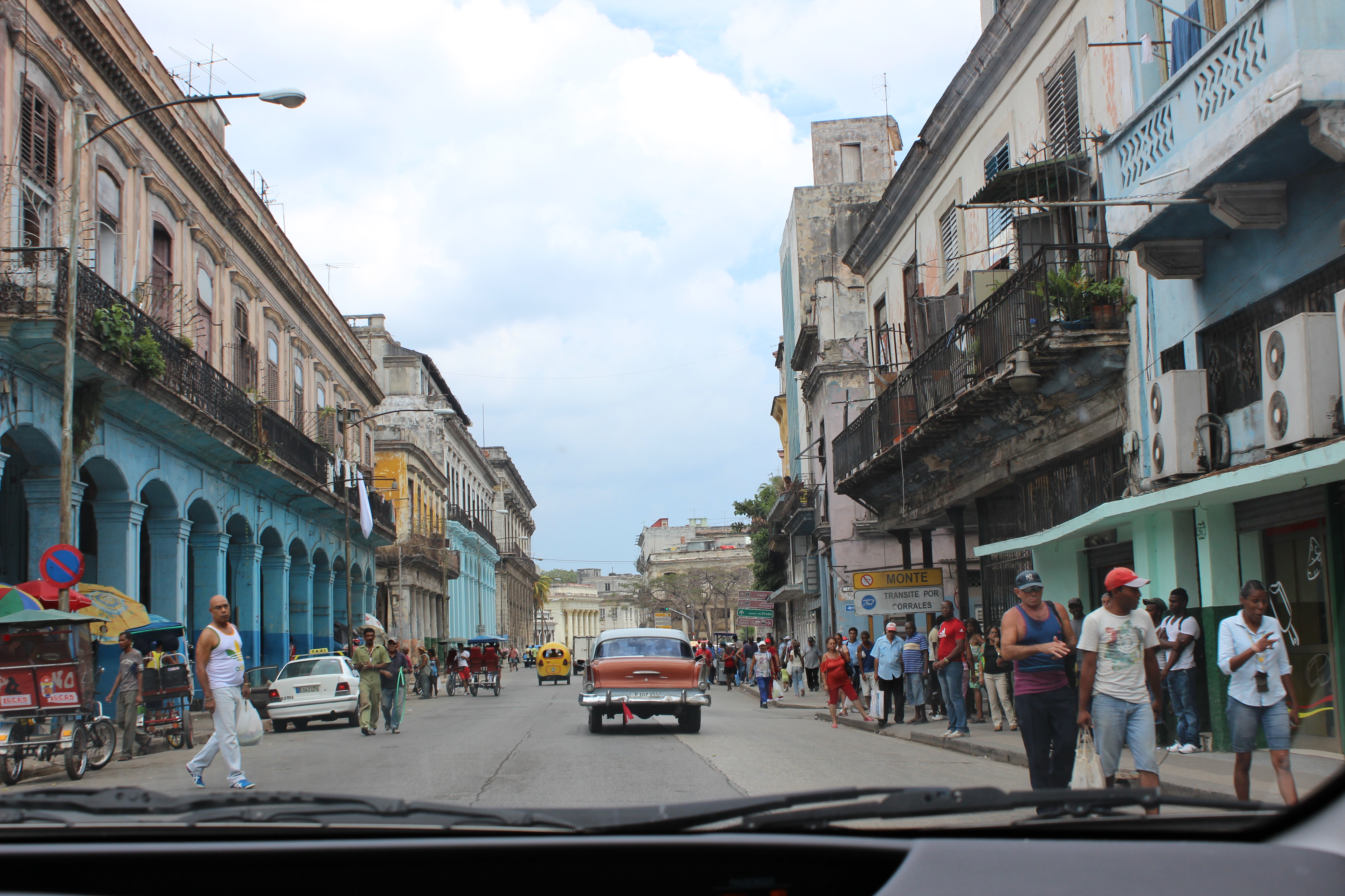 Street view of Old Havana from Ed's Prius