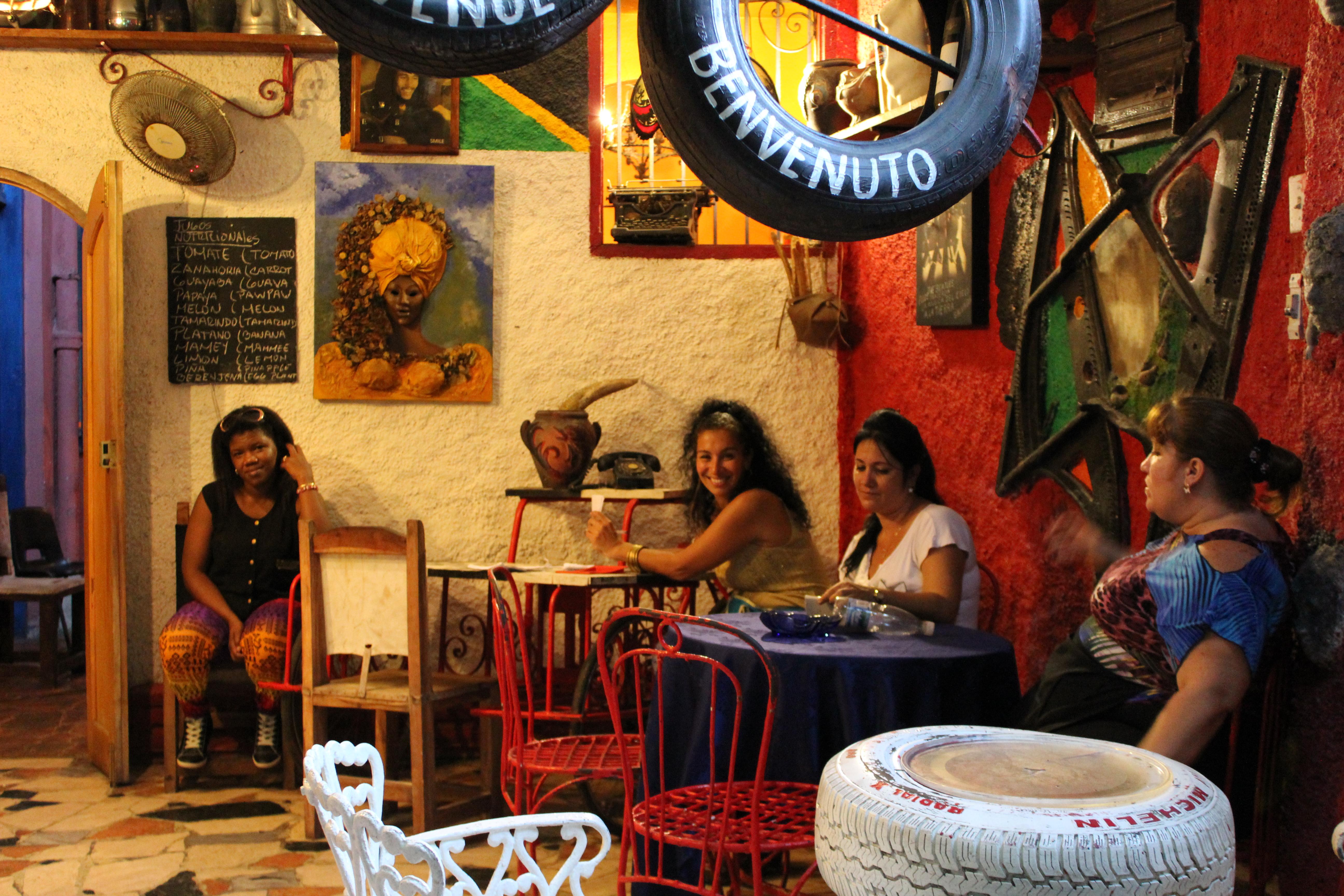 Inside a bar in Callejon Hammel.