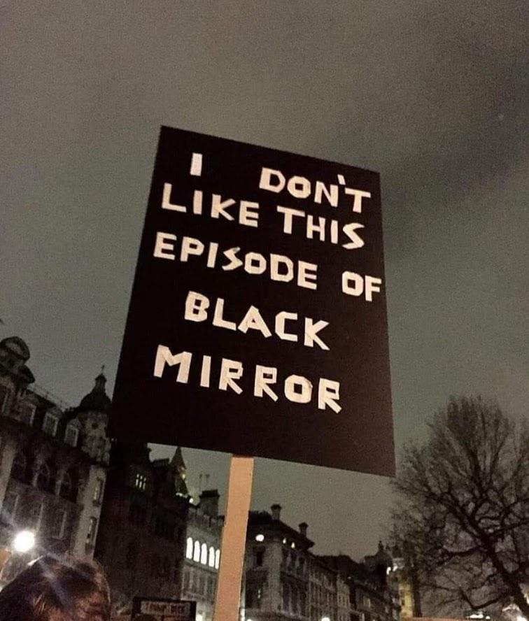 Black Mirror meme, credit unknown