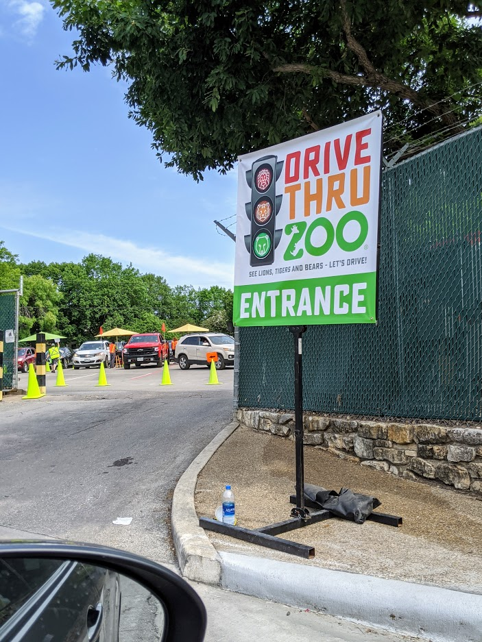 During the pandemic, you can reserve tickets to drive through the San Antonio zoo. Photo credit: Iris Gonzalez.