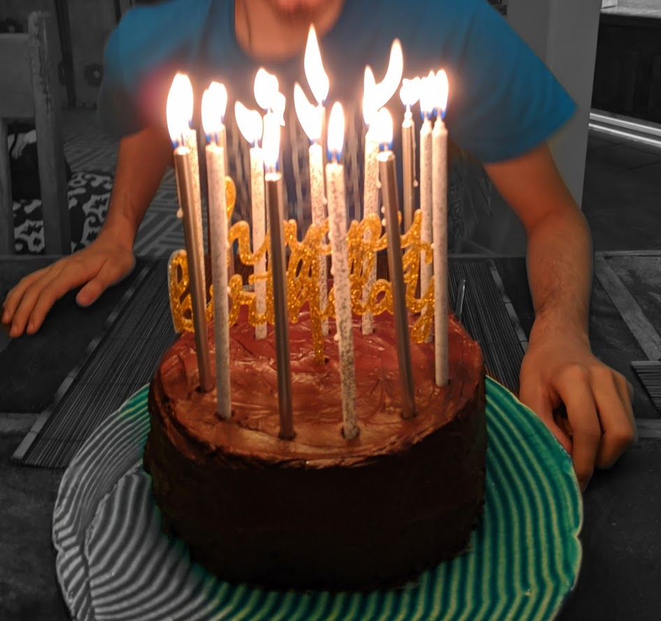 My son's birthday cake, photo credit: Iris Gonzalez.