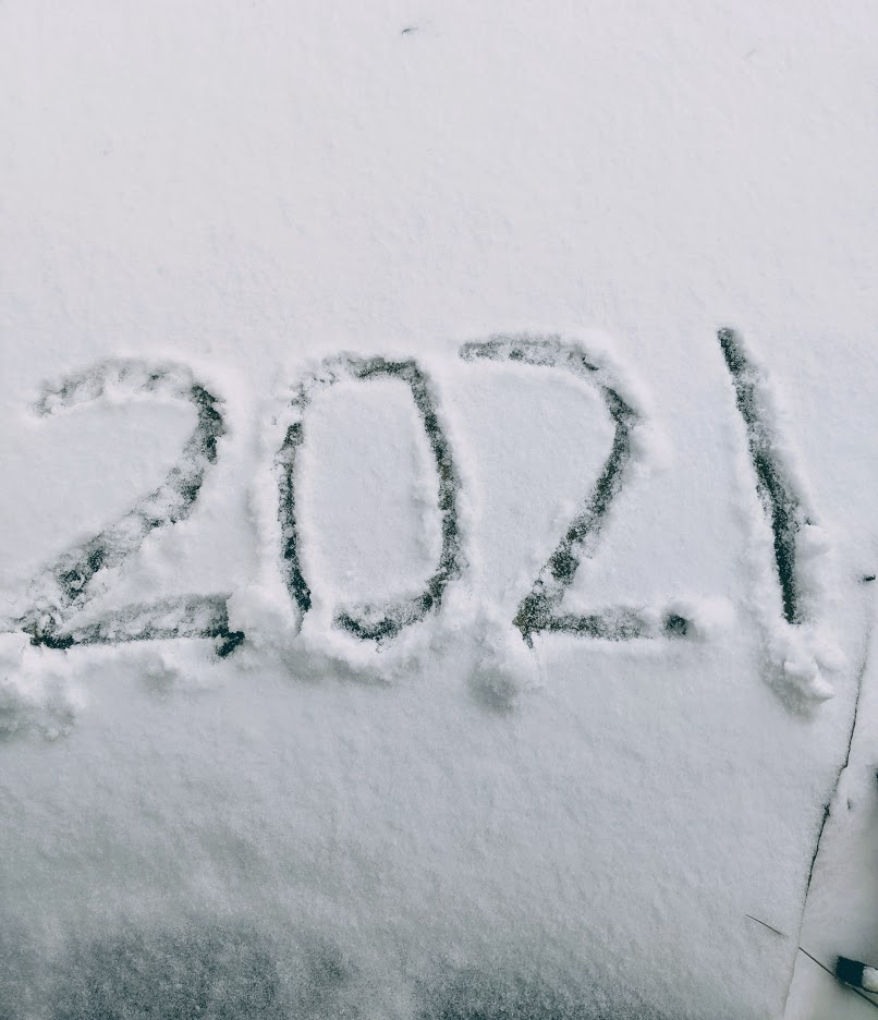 The featured image shows the numbers 2021 in the snow.